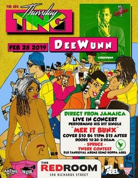 Live at Ting: DeeWunn   (Jamaica) @ The Red Room Feb 28 2019 - Apr 19th @ The Red Room