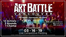 Art Battle Vancouver: All-Stars! @ The Red Room Mar 16 2019 - Apr 19th @ The Red Room