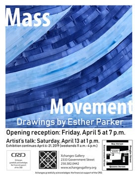 Mass Movement: Esther Parker @ Xchanges Gallery Apr 5 2019 - Feb 25th @ Xchanges Gallery