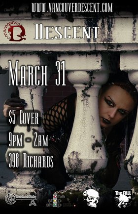 Descent Gothic Alternative March @ The Red Room Mar 31 2019 - Jul 23rd @ The Red Room