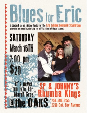 Blues for Eric: SP & Johnny's Rhumba Kings @ Oaks Restaurant and Grill Mar 16 2019 - Jan 23rd @ Oaks Restaurant and Grill
