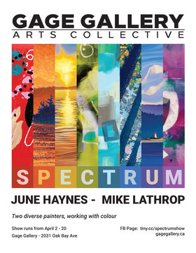 SPECTRUM: June Haynes, Mike Lathrop @ Gage Gallery Arts Collective Apr 2 2019 - Mar 19th @ Gage Gallery Arts Collective