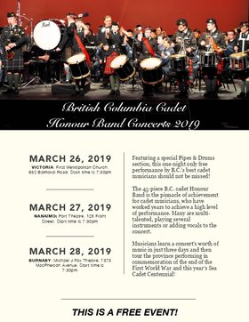 British Columbia Cadet Honour Band Concert 2019 @ First Metropolitan United Church Mar 26 2019 - Apr 20th @ First Metropolitan United Church