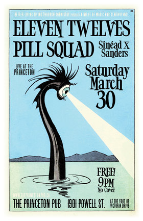 A Night of Garage Rock Punk Fizz Pop: The Eleven Twelves, Pill Squad, Sinéad Sanders @ Princeton Pub Mar 30 2019 - Apr 6th @ Princeton Pub