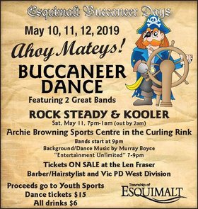 Buccaneer Dance 2019: Rock Steady, Kooler @ Archie Browning Sports Centre May 11 2019 - Apr 21st @ Archie Browning Sports Centre