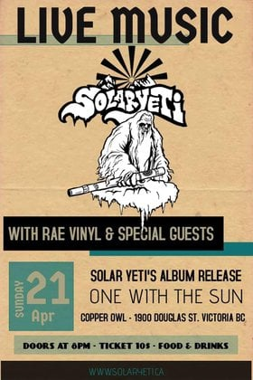 Solar Yeti, Rae Vinyl @ Copper Owl Apr 21 2019 - Apr 21st @ Copper Owl