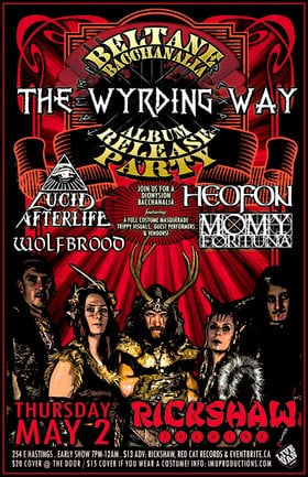 The WYRDING WAY, Lucid AfterLife, HEOFON, WOLFBROOD, Momy Fortuna @ Rickshaw Theatre May 2 2019 - Apr 26th @ Rickshaw Theatre