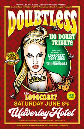 TRIBUTE TO NO DOUBT FT. DOUBTLESS with guests Lovecoast: DOUBTLESS, LOVECoast @ The Waverley Hotel Jun 8 2019 - Sep 26th @ The Waverley Hotel