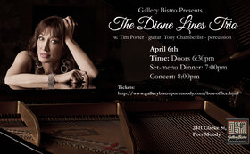 Diane Lines Trio @ Gallery Bistro Apr 6 2019 - Apr 25th @ Gallery Bistro