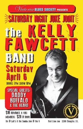 Saturday Night Juke Joint with The Kelly Fawcett Band: Kelly Fawcett Band, Daddy Buffalo & The Heard @ V-lounge Apr 6 2019 - Jun 5th @ V-lounge