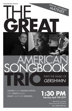 The Great American Songbook Trio f. Louise Rose @ Hermann's Jazz Club Apr 13 2019 - Oct 18th @ Hermann's Jazz Club