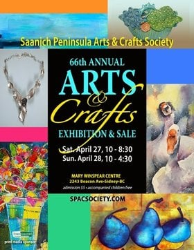 SPAC 66th Annual Arts & Crafts Exhibition & Sale @ Mary Winspear Centre 2243 Beacon Ave. Apr 27 2019 - Apr 24th @ Mary Winspear Centre 2243 Beacon Ave.