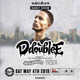 D Double E Live at SUBculture Saturday's - Early show! @ The Red Room May 4 2019 - Aug 22nd @ The Red Room