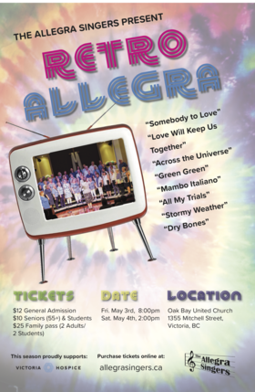 Allegra Singers Spring Concert: Allegra Singers @ Oak Bay United Church May 3 2019 - Apr 21st @ Oak Bay United Church