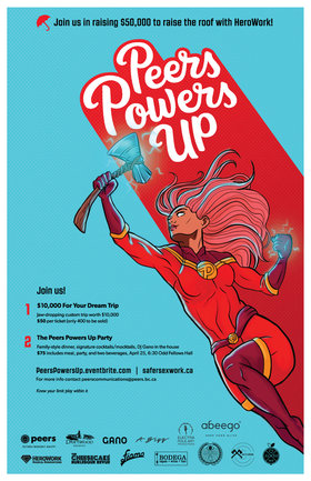 Peers Powers Up: Alison Bigg artist, Cheesecake Burlesque Revue, Electra Pole Art Productions, Mike Gano @ Odd Fellows Hall Apr 25 2019 - Apr 21st @ Odd Fellows Hall