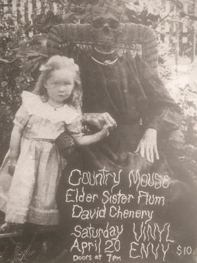 COUNTRY MOUSE (Nanaimo, BC), Elder Sister plum, David Chenery @ Vinyl Envy Apr 20 2019 - May 23rd @ Vinyl Envy