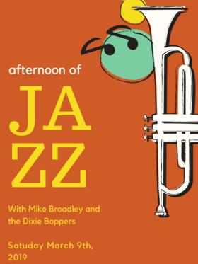 Mike Broadley & the Dixie Boppers @ Hermann's Jazz Club Jun 1 2019 - Oct 17th @ Hermann's Jazz Club