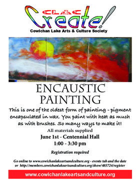 Encaustic Painting @ Upper Centennial Hall Jun 1 2019 - Apr 19th @ Upper Centennial Hall