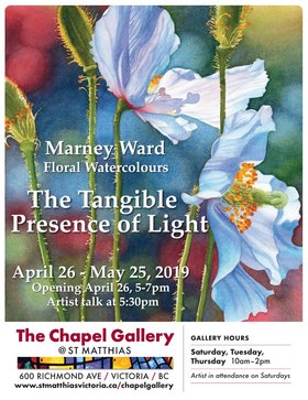 Marney Ward presents: The Tangible Presence of Light @ The Chapel Gallery at St Matthias Apr 26 2019 - Apr 24th @ The Chapel Gallery at St Matthias
