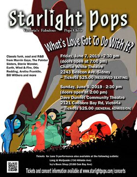 "Starlight Pops presents ""What's Love Got To Do With It?"": Starlight Pops  @ Dave Dunnet Theatre Jun 9 2019 - Jan 19th @ Dave Dunnet Theatre"
