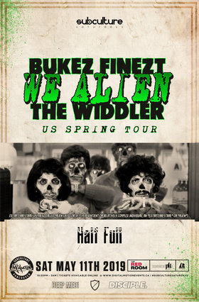 Bukez Finezt & The Widdler (We Alien Tour) at SUBculture @ The Red Room May 11 2019 - Aug 22nd @ The Red Room