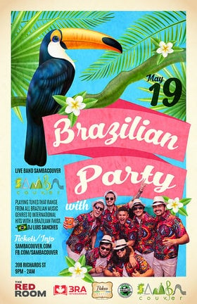 Brazilian Party with Sambacouver @ The Red Room May 19 2019 - Aug 22nd @ The Red Room