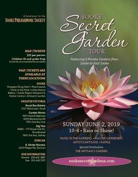 2019 Sooke Secret Garden Tour: Victoria Philharmonic Orchestra @ Sooke Secret Gardens Jun 2 2019 - Oct 17th @ Sooke Secret Gardens