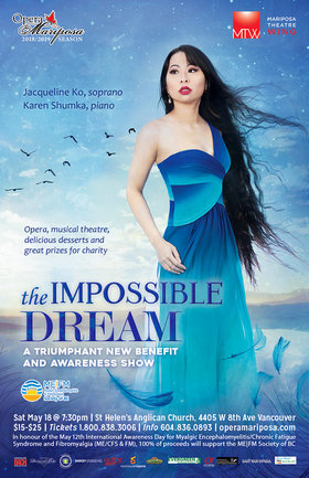 The Impossible Dream: A Triumphant New Benefit and Awareness Show: Jacqueline Ko , Karen Shumka @ St. Helen