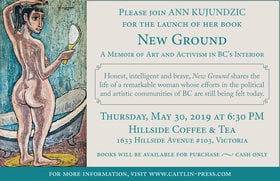 New Ground Launch with Artist & Activist Ann Kujundzic: Ann Kujundzic @ Hillside Coffee and Tea May 30 2019 - Aug 8th @ Hillside Coffee and Tea
