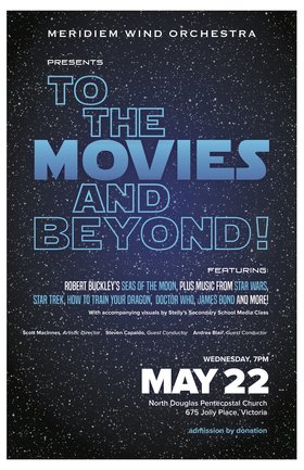 Meridiem Goes To The Movies & Beyond!: Meridiem Wind Orchestra @ North Douglas Church May 22 2019 - Dec 5th @ North Douglas Church