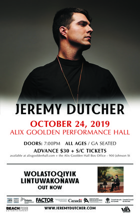 Jeremy Dutcher @ Alix Goolden Performance Hall Oct 24 2019 - Sep 29th @ Alix Goolden Performance Hall