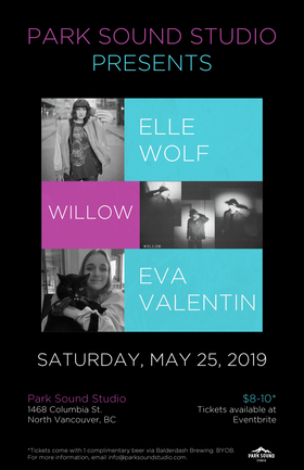 Willow, Elle Wolf, Eva Valentin @ Park Sound Studio May 25 2019 - Jun 18th @ Park Sound Studio