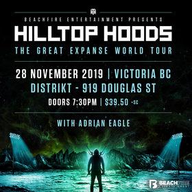 Hilltop Hoods, Adiran Eagle  @ Distrikt Nov 21 2019 - Oct 17th @ Distrikt