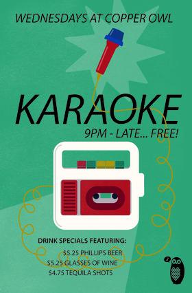 Karaoke Wednesdays: feat. you yah rockstar! @ Copper Owl Jun 19 2019 - Oct 28th @ Copper Owl