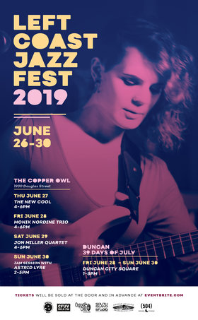 The Left Coast Jazz Fest - The New Cool: Steve Duben, Jon Miller, Neil Taylor, Cliff Maddix @ Copper Owl Jun 27 2019 - Dec 11th @ Copper Owl
