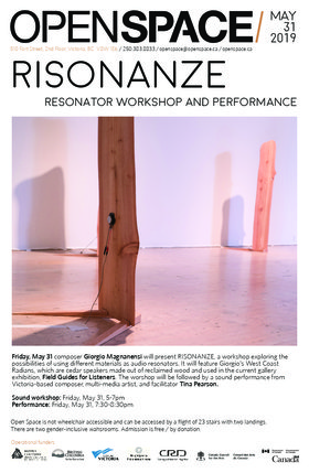 Risonanze Sound Workshop and Performance: Giorgio Magnanensi, Tina Pearson @ Open Space May 31 2019 - May 26th @ Open Space