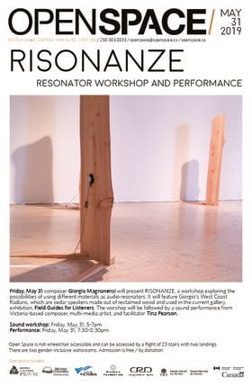Risonanze Sound Workshop and Performance: Giorgio Magnanensi, Tina Pearson @ Open Space May 31 2019 - May 22nd @ Open Space