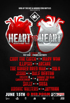 KOTD Vancouver: Heart To Heart @ The Red Room Jun 15 2019 - Aug 22nd @ The Red Room
