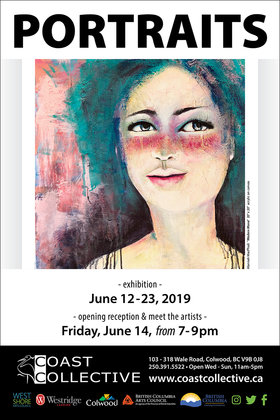 Portraits @ Coast Collective Art Centre Jun 12 2019 - Apr 4th @ Coast Collective Art Centre