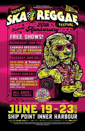 Victoria Ska & Reggae Festival 20th Anniversary FREE Main-Stage Closing show!: Isaac Chambers , The Scotch Bonnets, Boogát, Boomshack @ Ship Point (Inner Harbour) Jun 23 2019 - Sep 26th @ Ship Point (Inner Harbour)