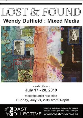 Lost and Found.  Mixed Media Fine Art: Wendy Duffield @ Coast Collective Art Centre Jul 17 2019 - Apr 4th @ Coast Collective Art Centre