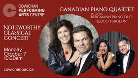 Noteworthy Concerts: Bergmann Piano Duo, Duo Turgeon @ Cowichan Performing Arts Centre Oct 7 2019 - Jul 23rd @ Cowichan Performing Arts Centre