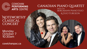 Noteworthy Concerts: Bergmann Piano Duo, Duo Turgeon @ Cowichan Performing Arts Centre Oct 7 2019 - Aug 19th @ Cowichan Performing Arts Centre