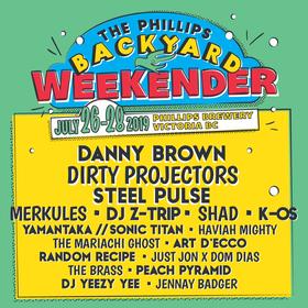 The Phillips Backyard Weekender: Danny Brown, Dirty Projectors, Steel Pulse, MERKULES, Z TRIP, Shad, k-os, Yamantaka//Sonic Titan, Haviah Mighty, The Mariachi Ghost,  Art d'Ecco, Random Recipe, Just John x Dom Dias, Brass, Peach Pyramid,  DJ Yeezy Yee, Jennay Badger @ The Phillips Backyard (at Phillips Brewery) - Jul 28 2019 - Oct 24th @ The Phillips Backyard (at Phillips Brewery) -