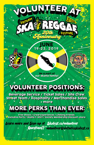 Volunteer for The Ska & Reggae Fest