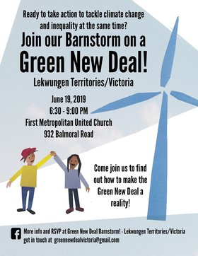 Join the Green New Deal Barnstorm! @ First Metropolitan United Church Jun 19 2019 - Apr 20th @ First Metropolitan United Church