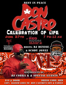 Don Castro's Celebration of life @ The Red Room Jun 27 2019 - Aug 22nd @ The Red Room