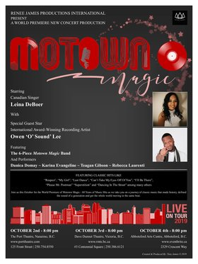 Motown Magic - 60 Years of Music Hits: Leina DeBoer, Teagan Gibson, Owen Lee, Rebecca Laurenti, Danica Domay, Karina Evangeline @ Dave Dunnet Theatre Oct 3 2019 - Jan 19th @ Dave Dunnet Theatre
