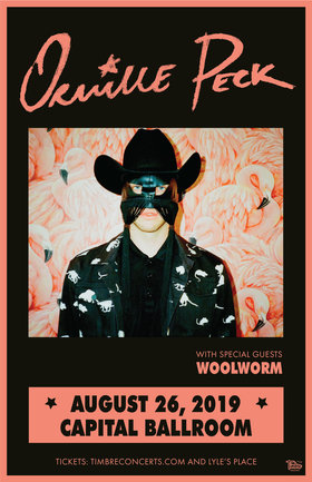 ORVILLE PECK,   (Plus Guests) @ Capital Ballroom Aug 26 2019 - Aug 20th @ Capital Ballroom