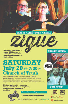 Zigue, Qristina Brooke, Aime Methe @ Church Of Truth Jul 20 2019 - Dec 14th @ Church Of Truth